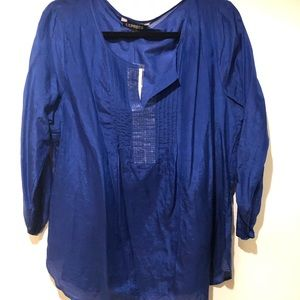 Express Women's Royal Blue Blouse Size Large